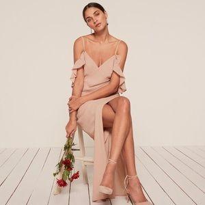 NWT Reformation Ferrera Dress Blush